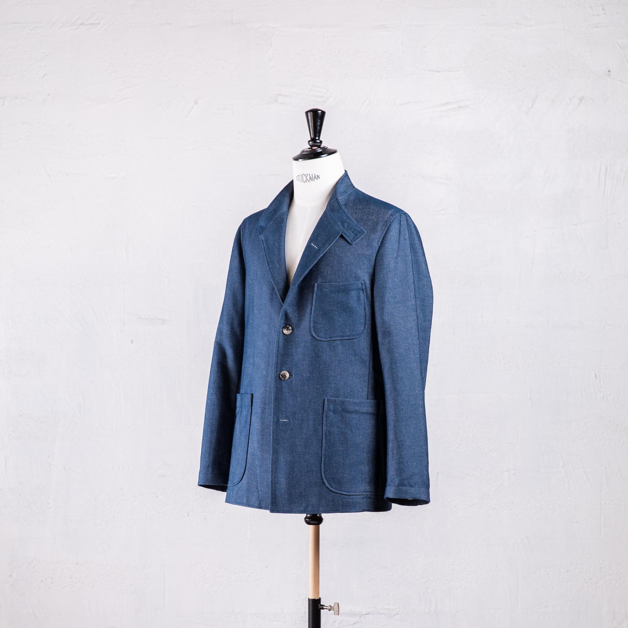 Veste droite en jean biologique made in France Caminel