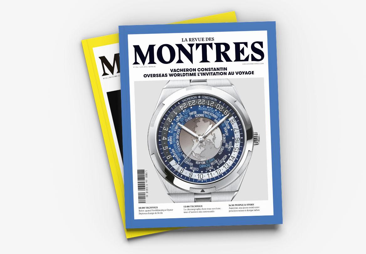 réalisation magazine de luxe la revue des montres