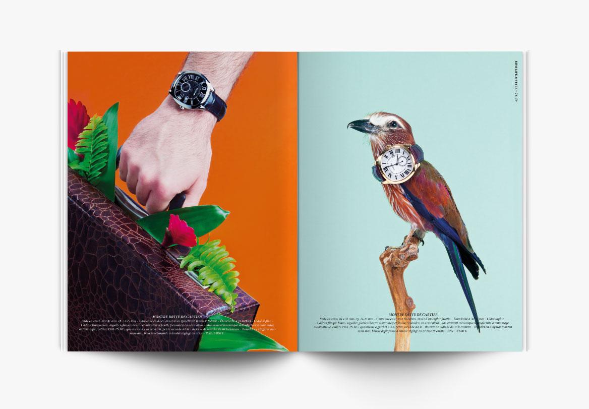 Création de magazine horloger de luxe