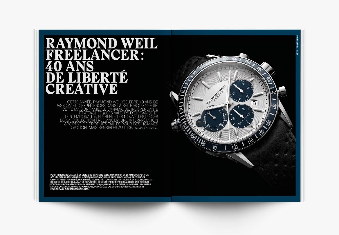 Création de magazine de horlogerie de luxe