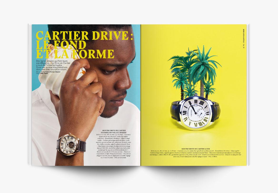 Création de revue de montres de luxe