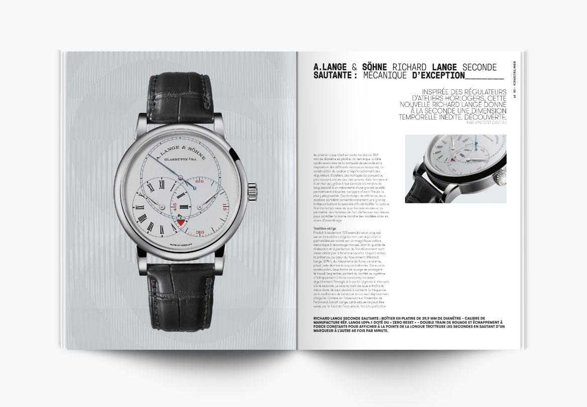 Création de revue de montres de haute horlogerie