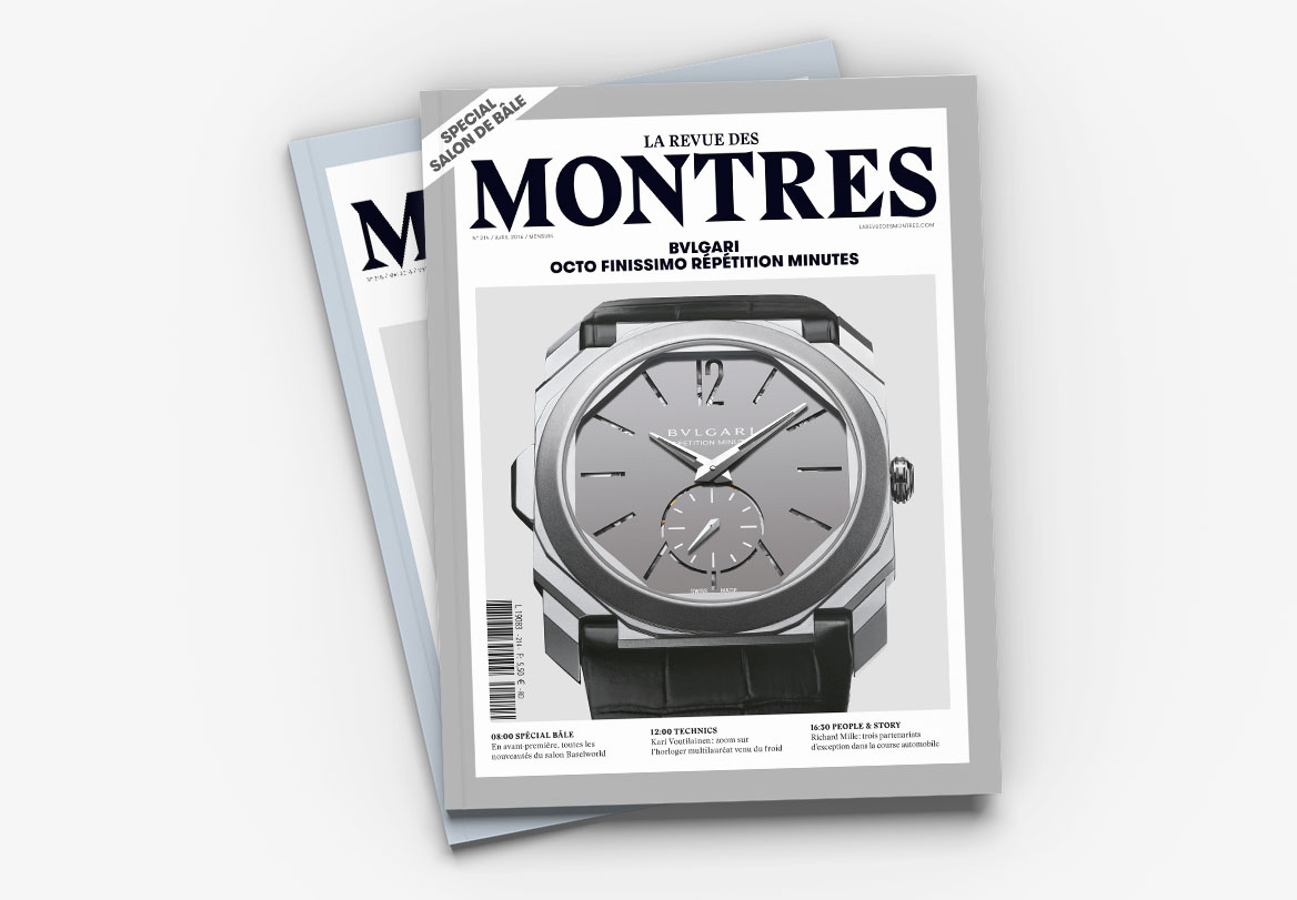 Création de magazine de montre de luxe