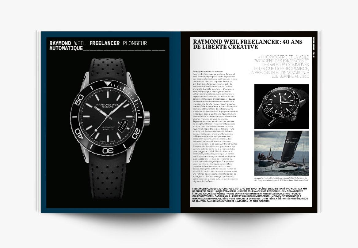 Création de magazine de haute horlogerie de luxe