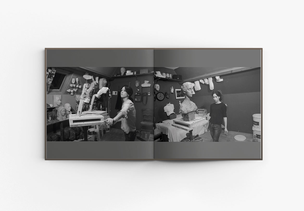 Conception de catalogue d'exposition de sculpture Irina Shark