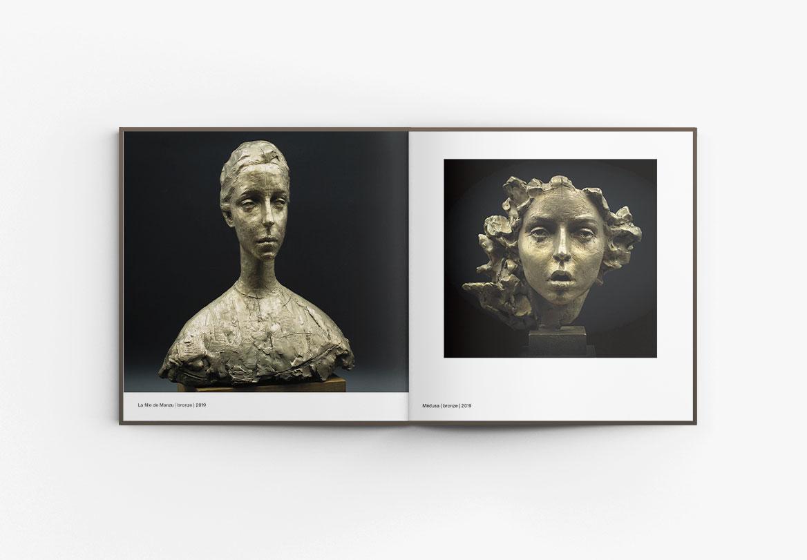 Réalisation catalogue d'exposition sculpture Irina Shark