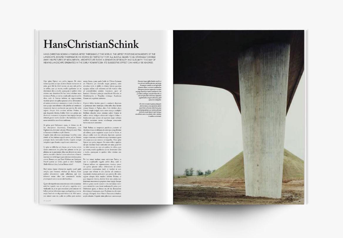 Création de magazine photographique d'art