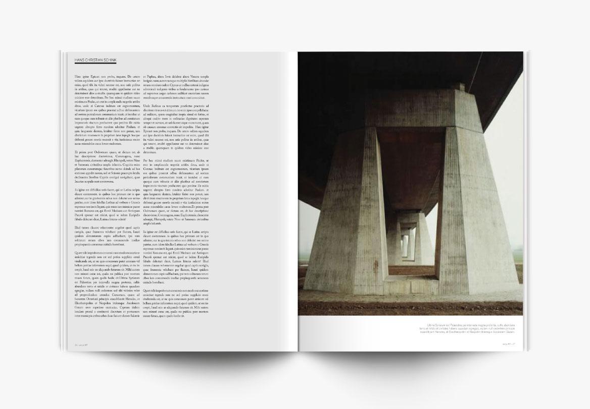 Conception et mise en page de revue photographique d'art
