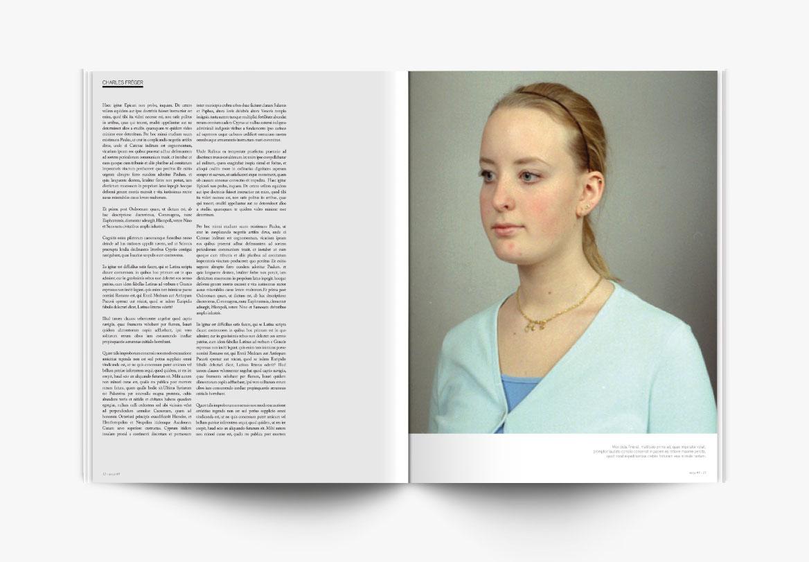 Réalisation de magazine photographique d'art