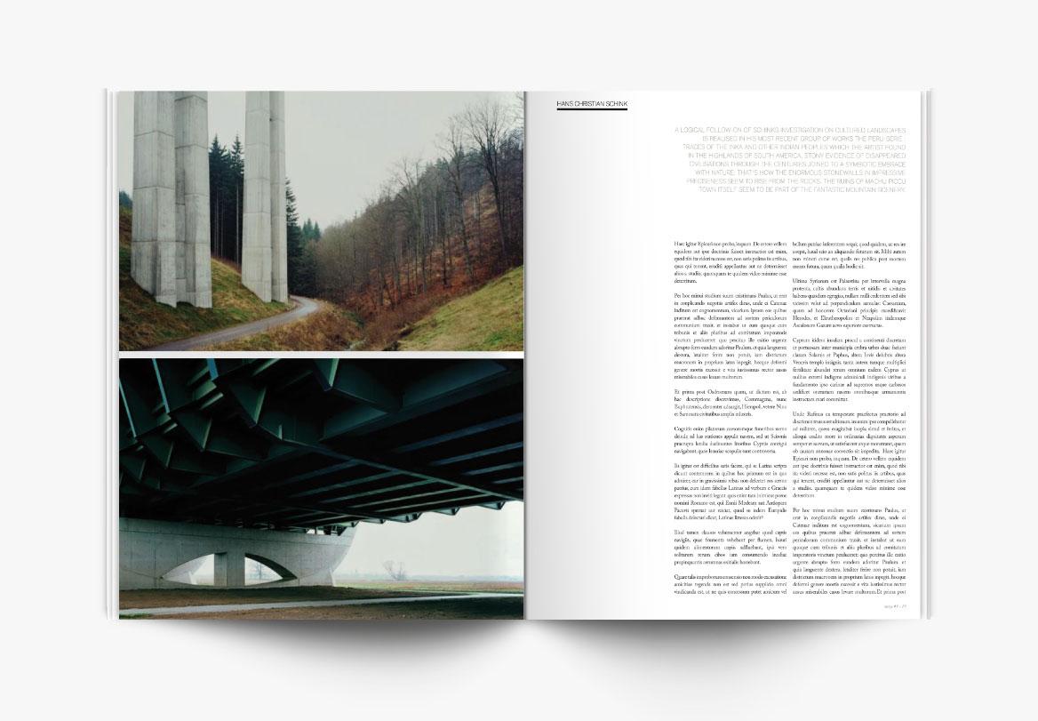 Conception et mise en page de magazine photographique d'art
