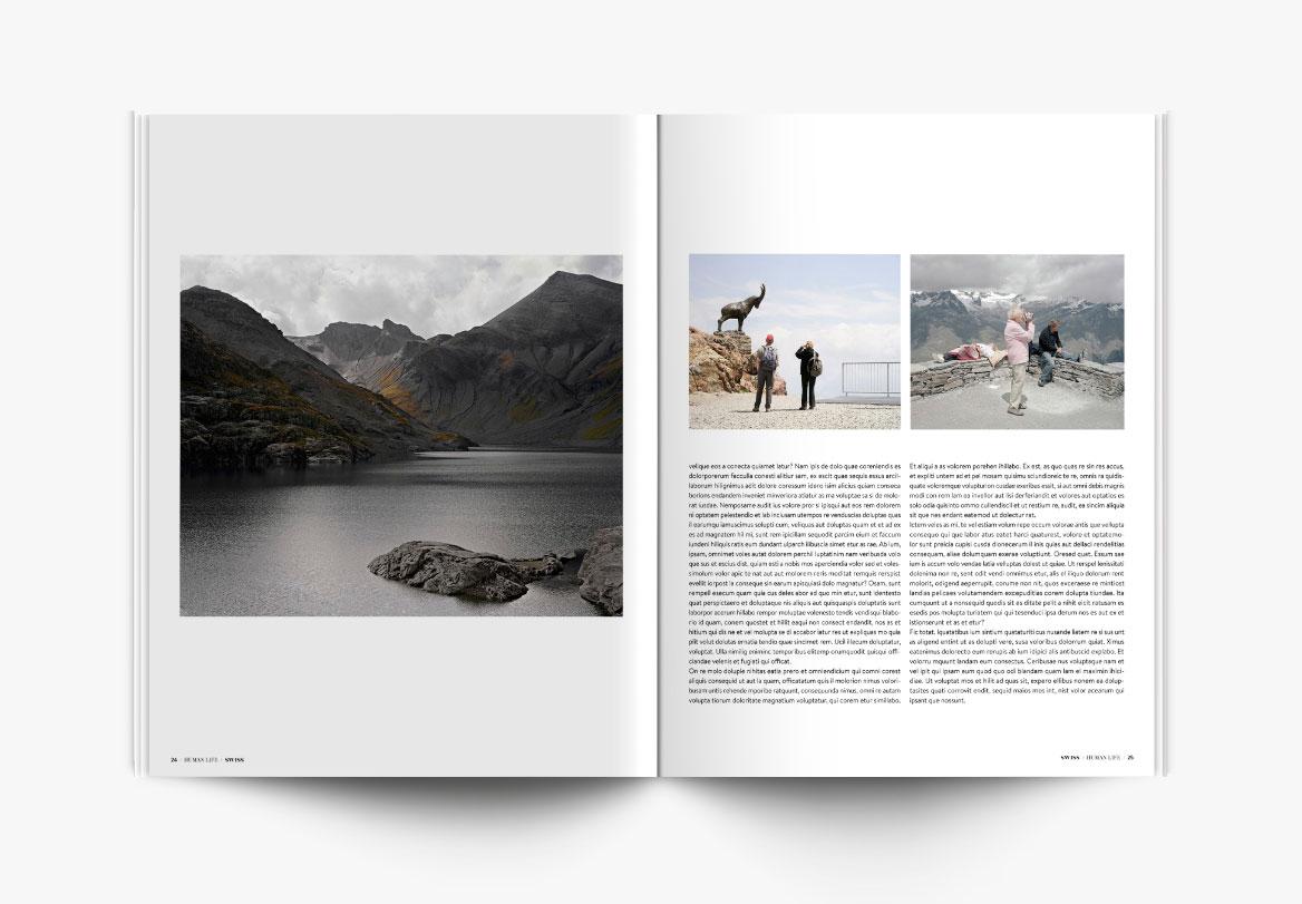 Création de magazine photographie