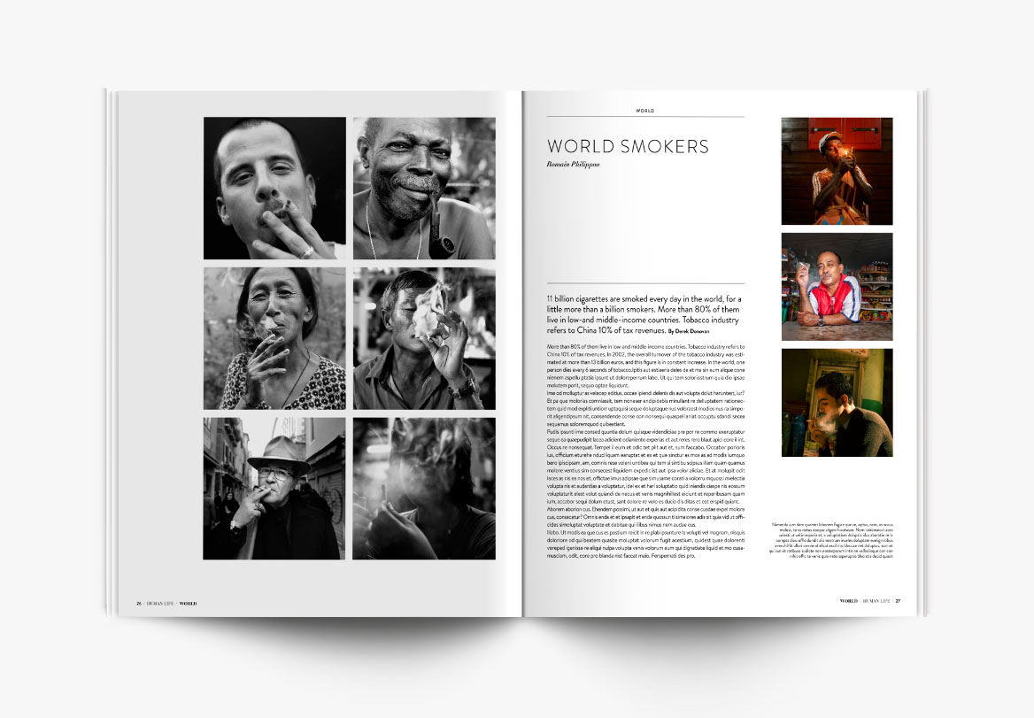 Création de magazine de photographie