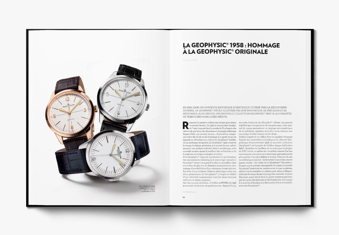 Création de livre horlogerie