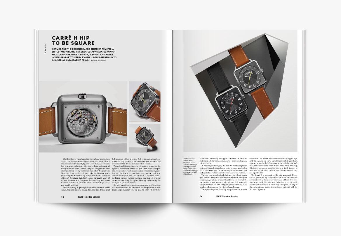 Création de magazine horloger
