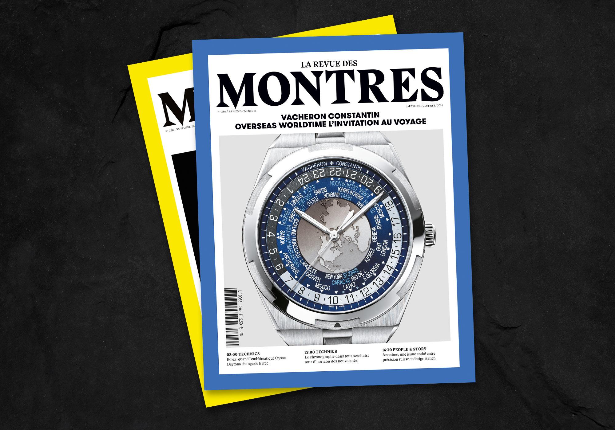 couverture de magazine la revue des montres