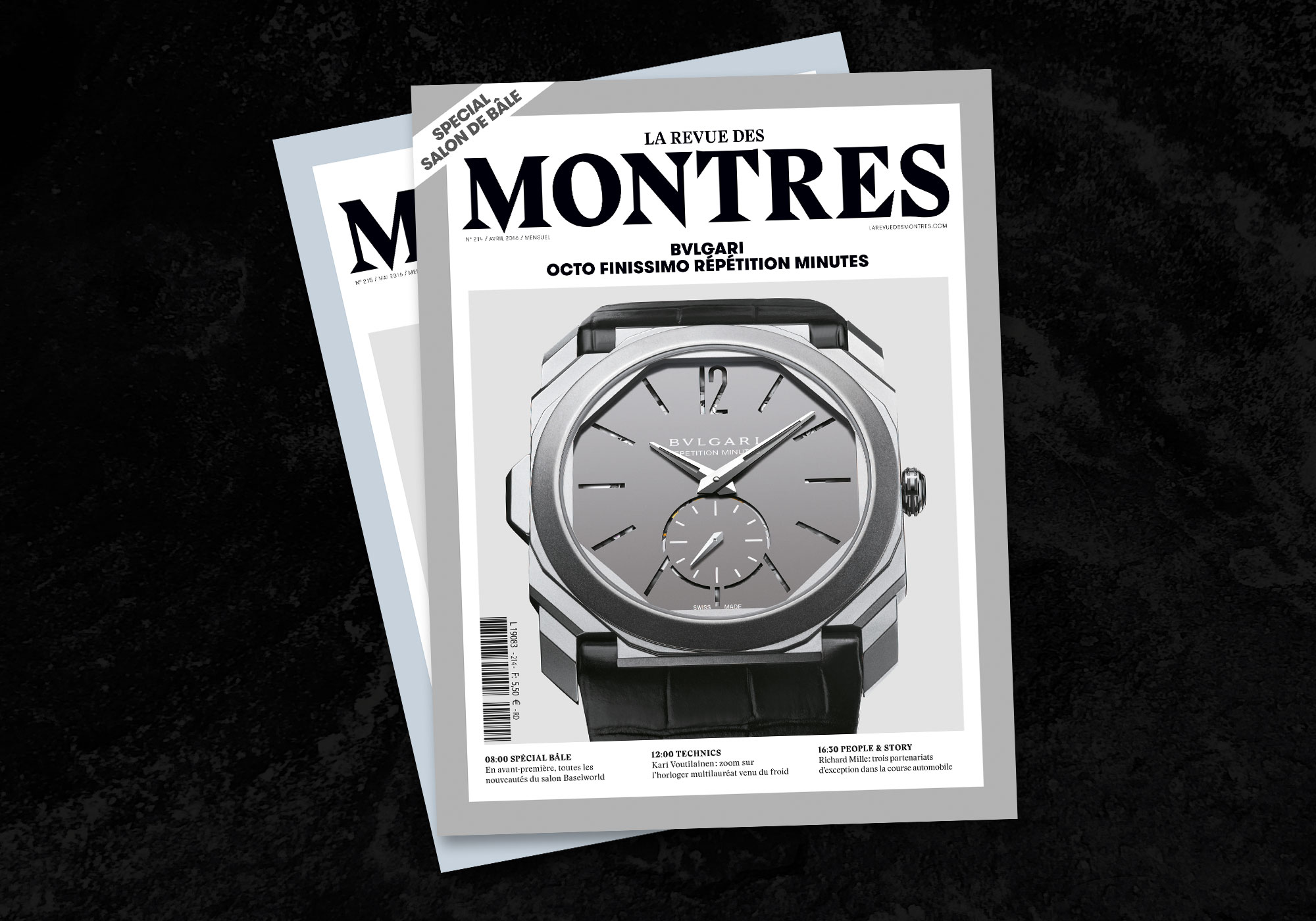 couverture de magazine français de montres de luxe