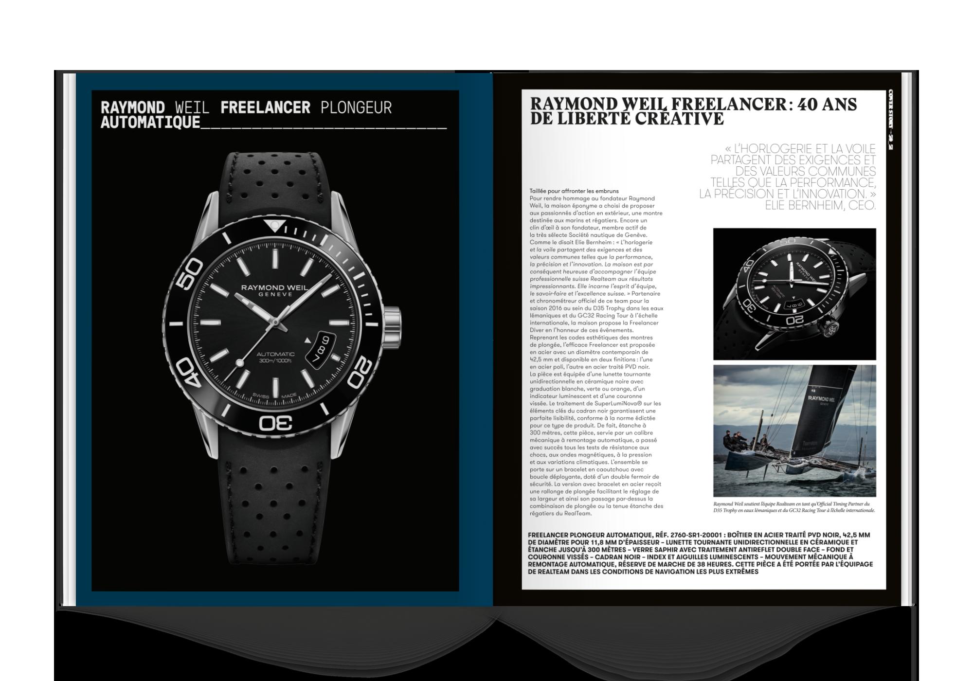 mise en page magazine de montres