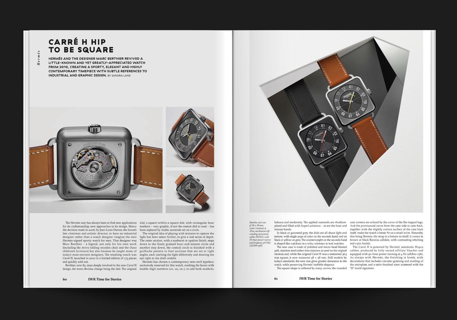 graphiste indépendant magazine haute horlogerie