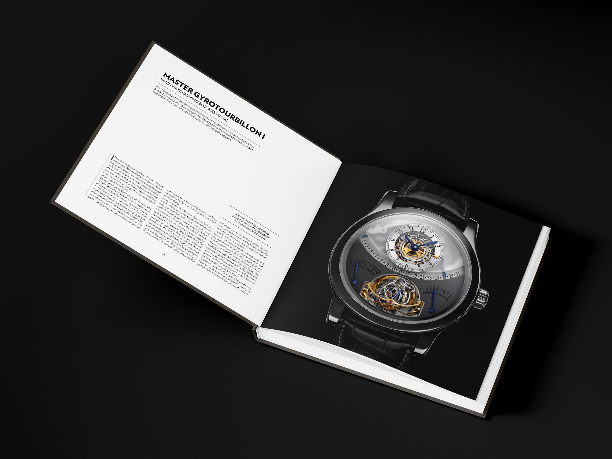 Création de beau livre horlogerie graphiste freelance