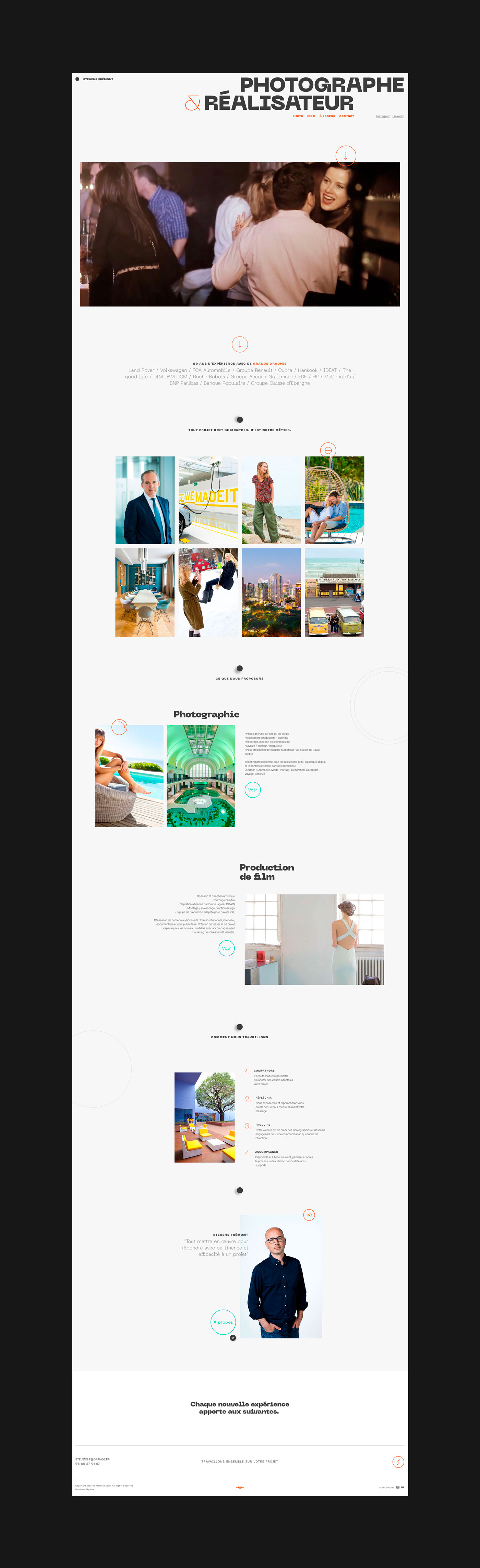 webdesigner webflow photographie film