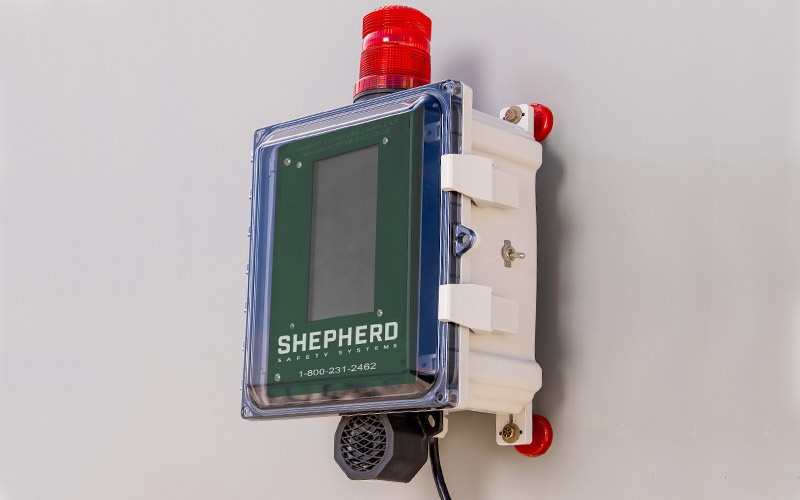 The control panel for shepherd safety systems gas detection system