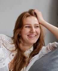 Entrepreneur woman looking content