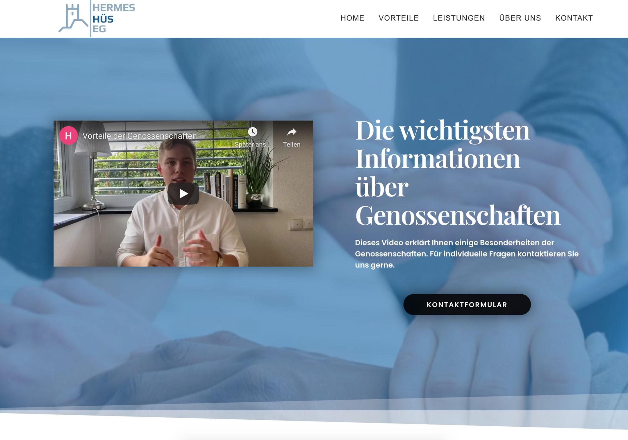 Hermes - Hüs - EG Eine Website die von Steven Braun erstellt wurde