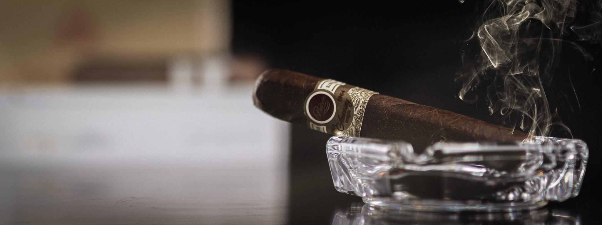 Studio photography of a cigar