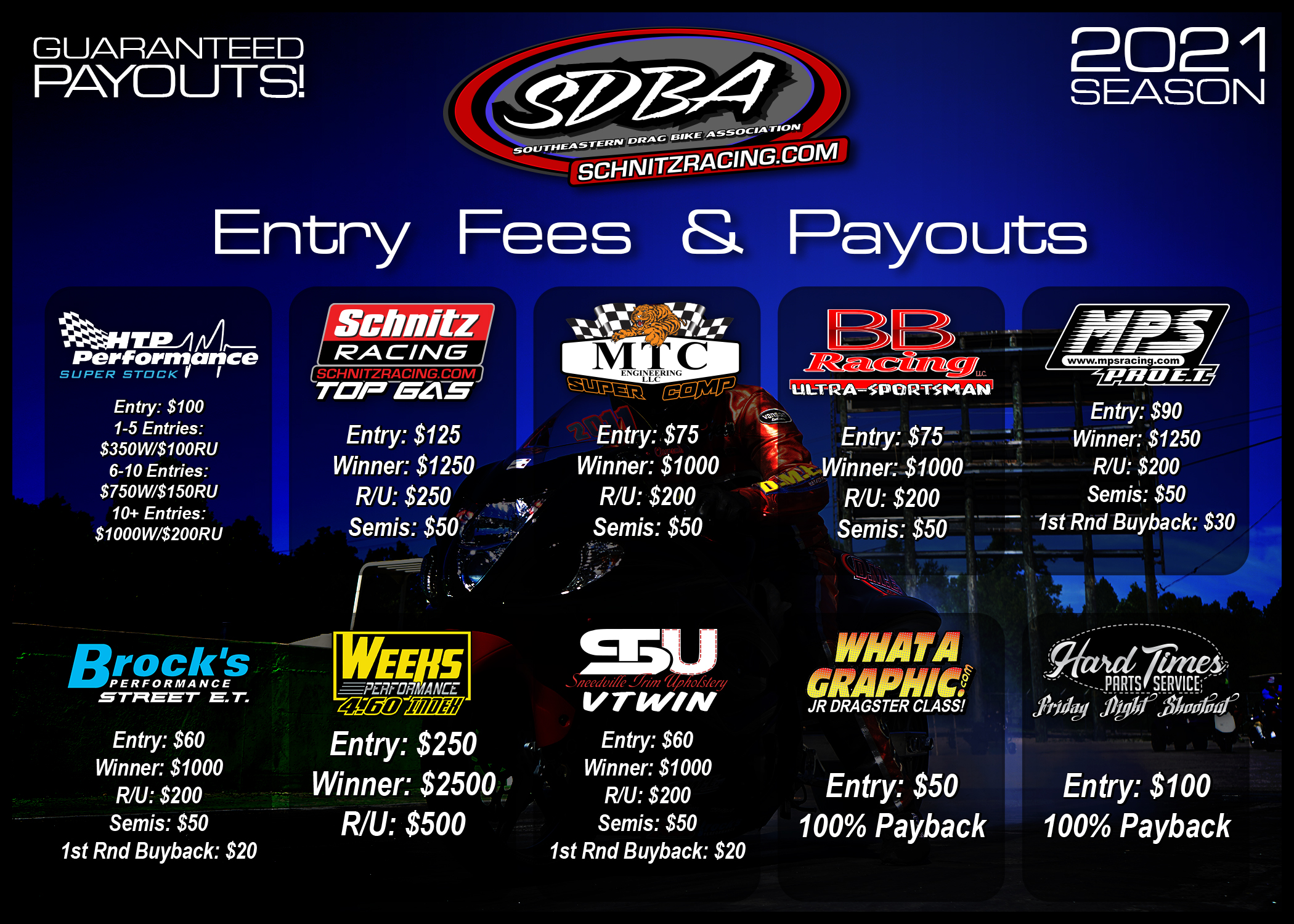 SDBA 2021 Schedule Flyer