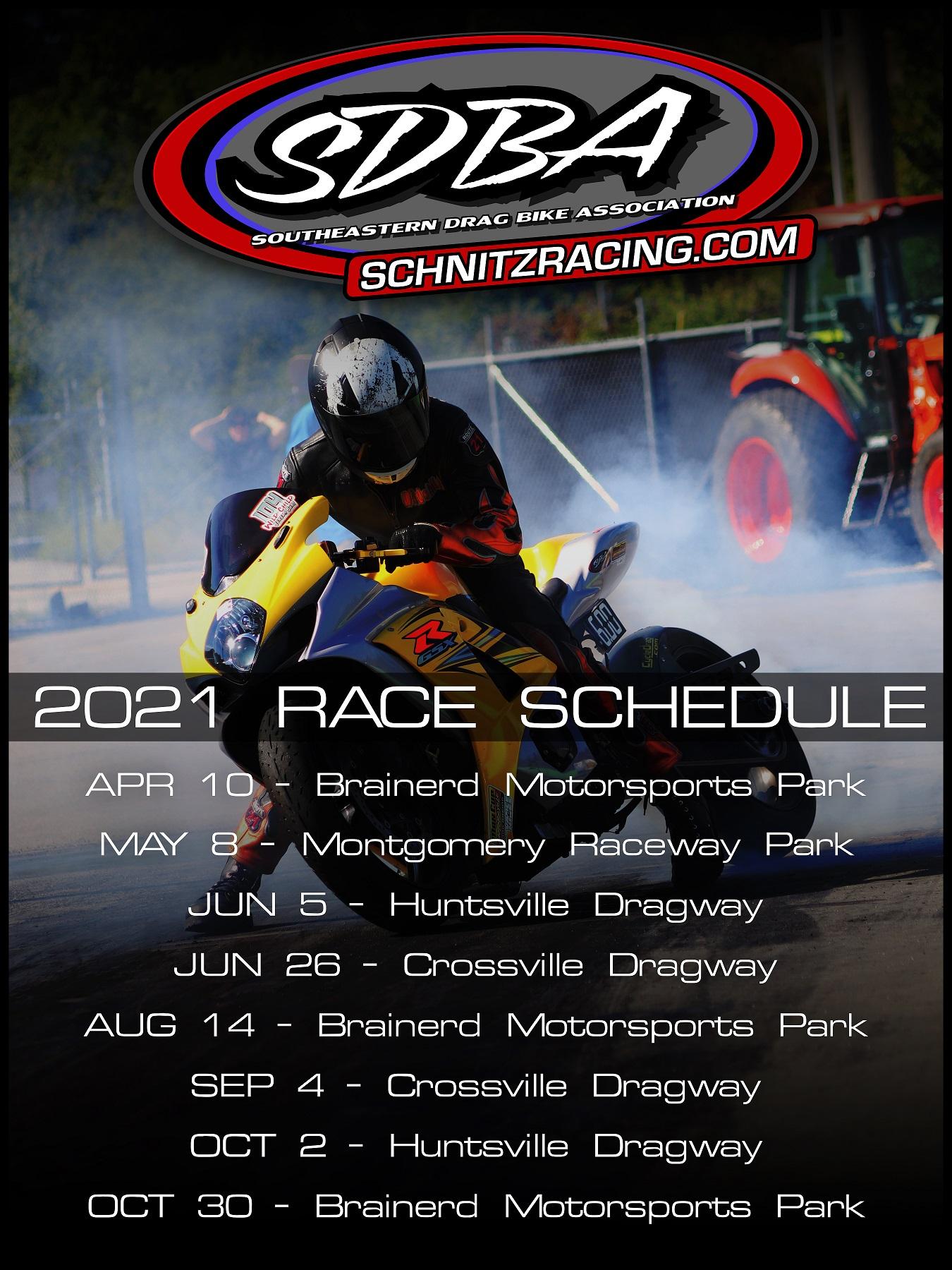 SDBA event schedule