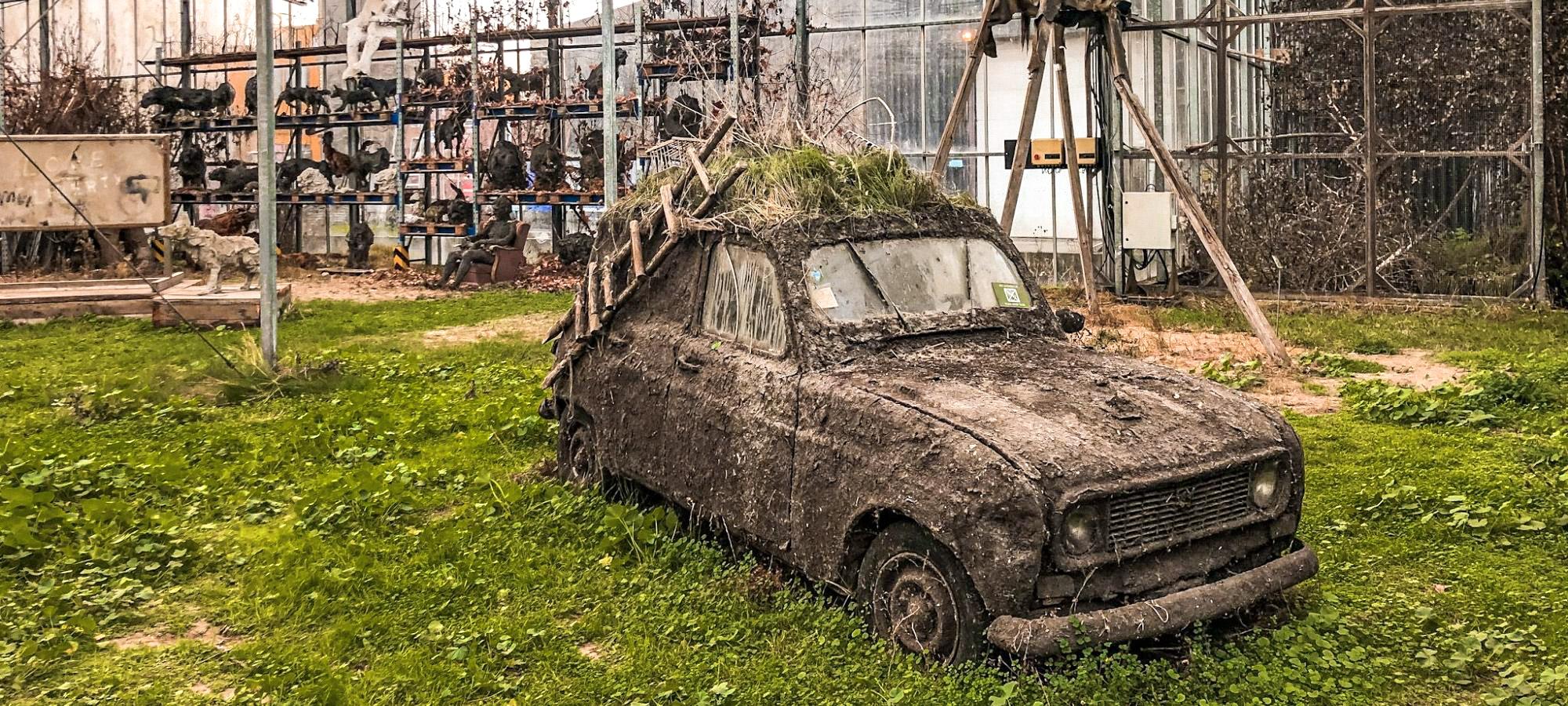 A car at the Verbeke Foundation