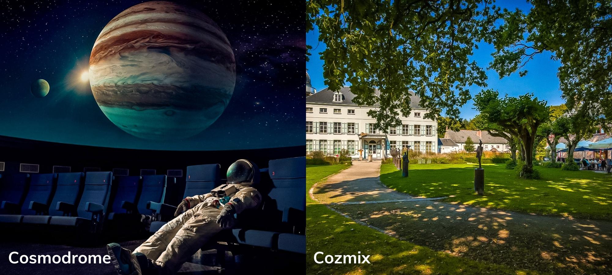 Two planetariums in Limburg and Bruges, Belgium