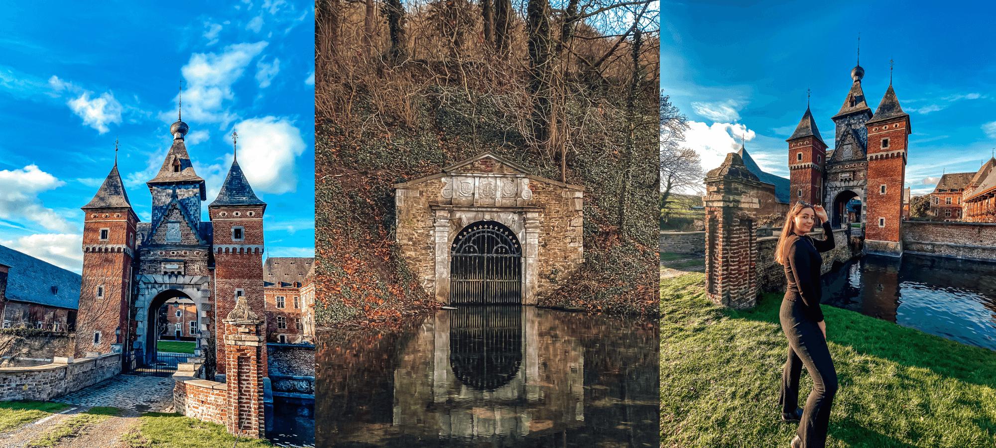 Moated castle La Commanderie, Belgium
