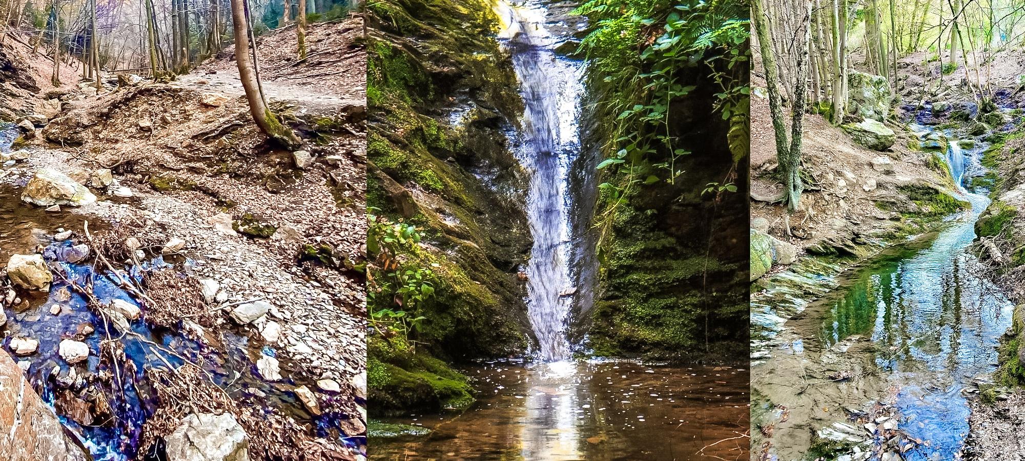 Rivers and waterfall on the Ninglinspo hike, Belgium