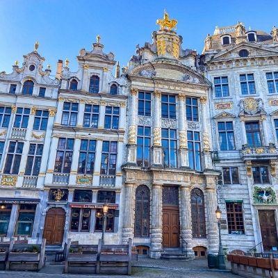 Buildings in Brussels square, Belgium