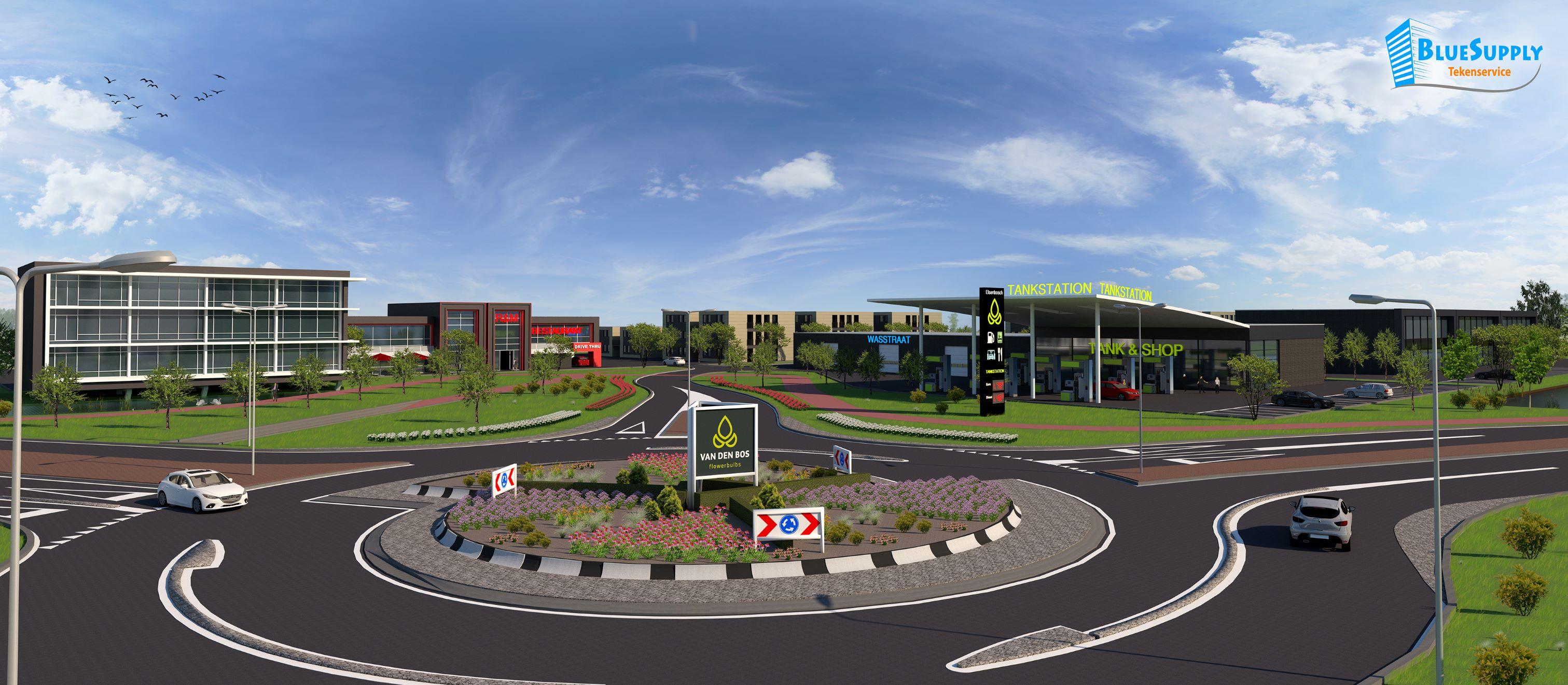 ontwerp tekening bedrijventerrein Naaldwijk