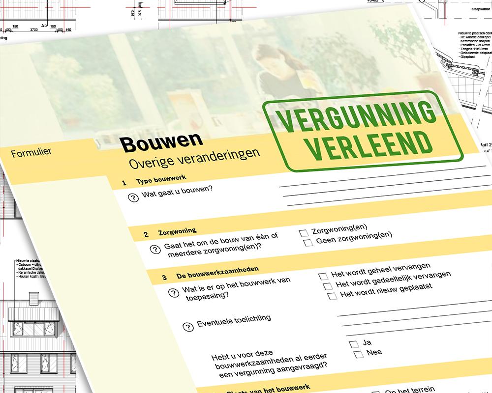 Omgevingsvergunning voor bouwplannen