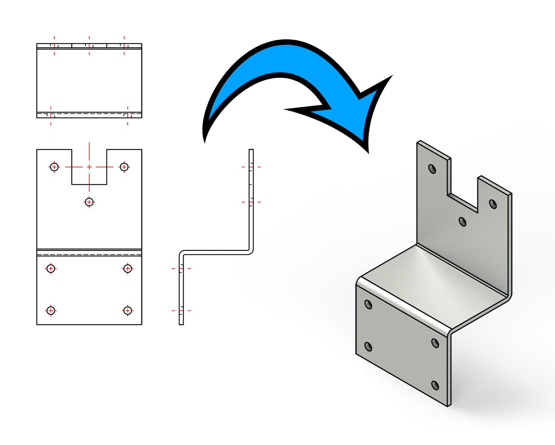 2D en CAD tekeningen worden omgezet naar STEP bestanden
