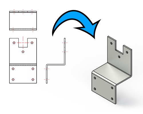 2D tekeningen omzetten naar STEP bestanden