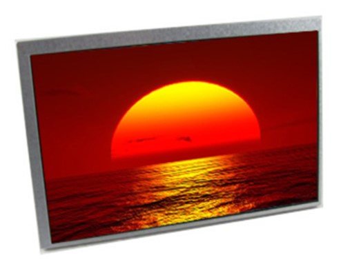lcd with sun setting