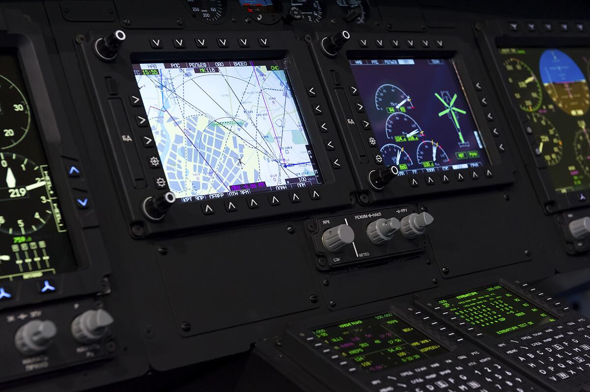 Marine or military LCD display board.