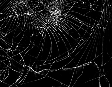 shattered cover glass
