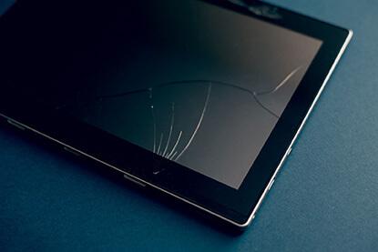 broken lcd tablet