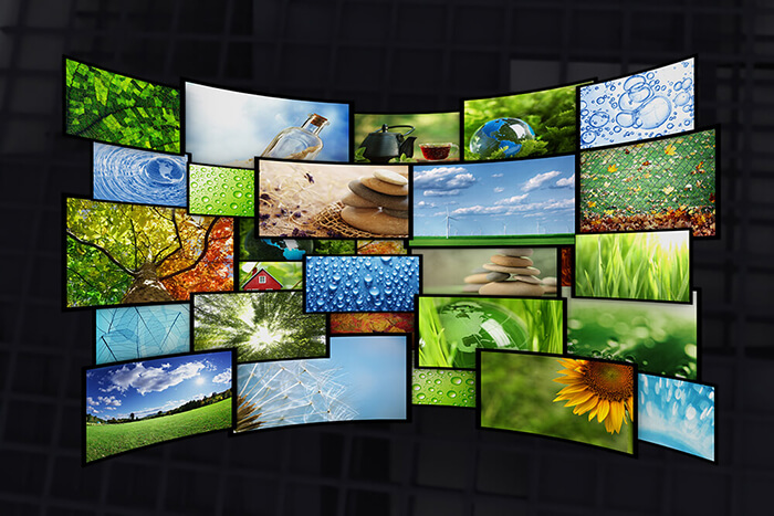 abstract of a bunch of lcds
