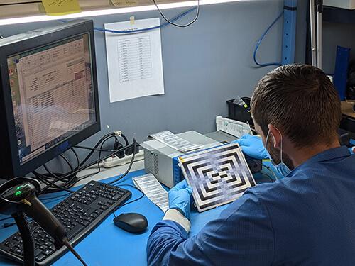 display technician testing lcd