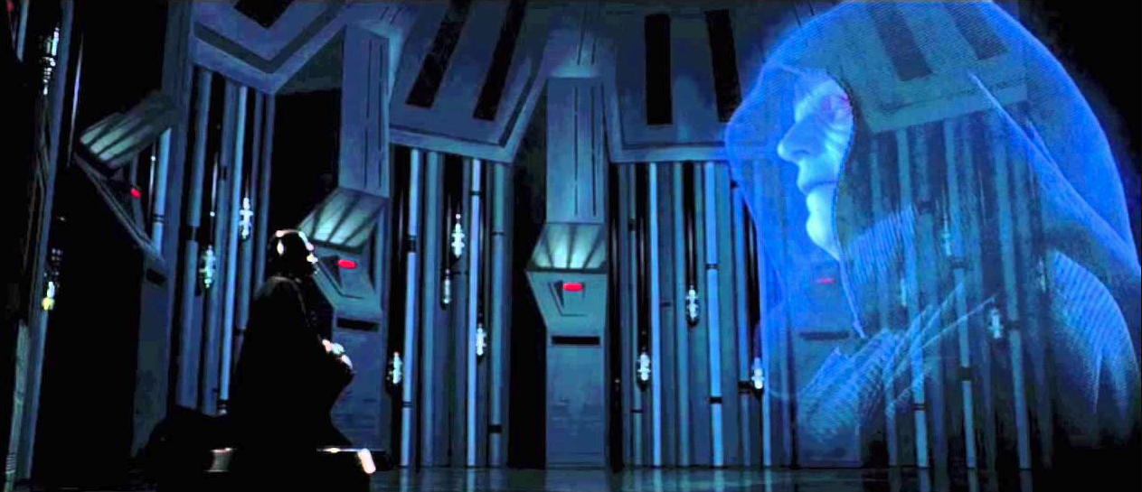Darth Vader Being An Apprentice And Kneeling Before Emperor Palpatine