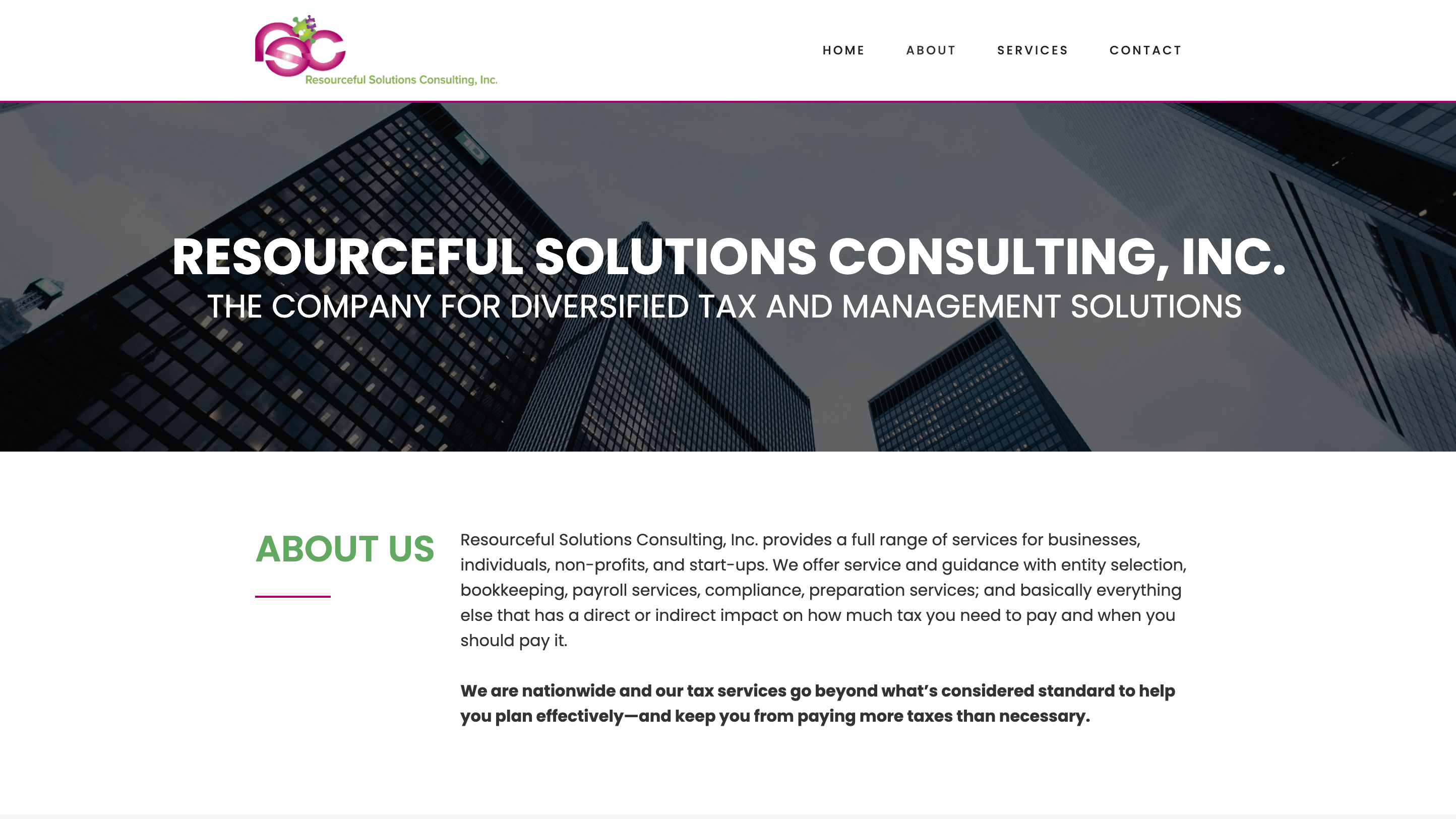 Resourceful solutions inc web design