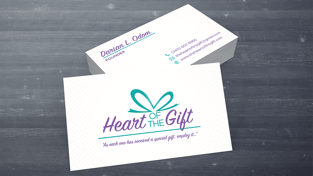 hearf ot the gift business card