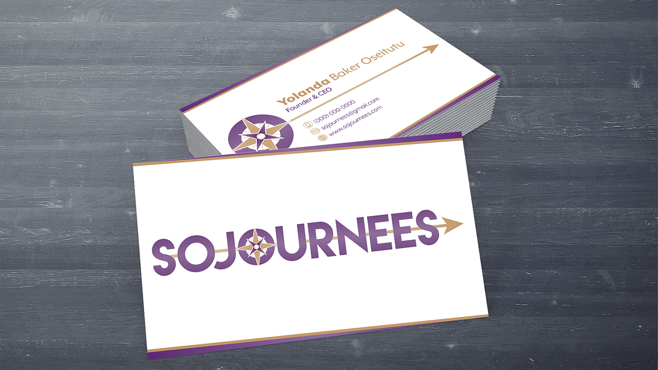 Sojournees business card