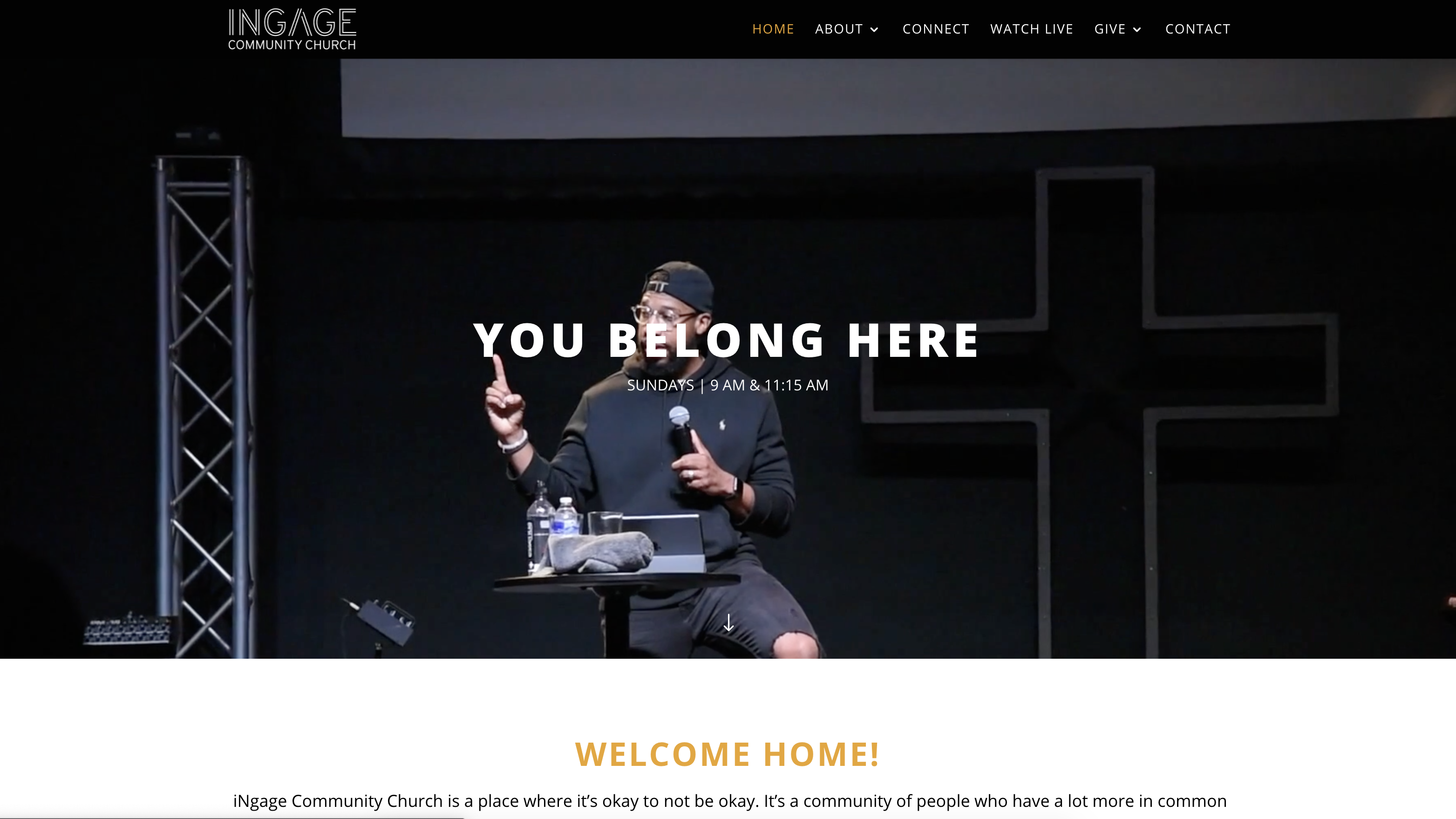 ingage community church web design